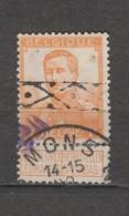 COB 116 Oblitération Centrale MONS + Roulette - 1912 Pellens