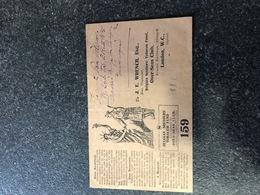 Belgium World War I WWI Postcard Thankyou Card Florent Van Volxem Via London New York Tobacco Fund Statue Of Liberty USA - Armée Belge
