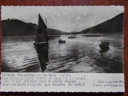 88 - GÉRARDMER - Coucher De Soleil. (Vers D' Abel Hugo - Barques ) CPSM - Gerardmer