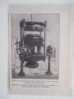 Machine à Fabriquer Des Pneumatiques De Bicyclettes  -  Coupure De Presse De 1920 - Ciclismo