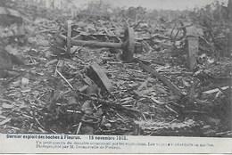 FLEURUS. GUERRE 15 Novembre 1918.  LES WAGONS REDUITS EN MIETTES APRES EXPLOSIONS - Fleurus