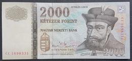 OA - Hungary 2000 Forint Banknote 2004 #CC 1698331 A-UNC / UNC - Bahreïn