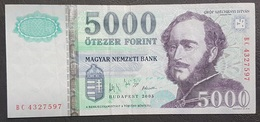 OA - Hungary 5000 Forint Banknote 2005 #BC 4327597 XF+ - Bahrein