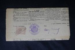 FRANCE - Fiscal Sur Journal De Bayeux En 1896 - L 52789 - Fiscali