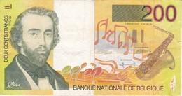 BILLETE DE BELGICA DE 200 FRANCOS DEL AÑO 1995  DE ADOLPHE SAX  (BANKNOTE) - [ 2] 1831-... : Reino De Bélgica