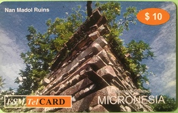 "MICRONESIE  -  Prepaid  -  "" Nan Madol Ruins ""  -  $10 - Micronésie"