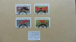Amérique > Trinité & Tobago  4 Timbres Oblitérés  N° 639/642 - Trinité & Tobago (1962-...)
