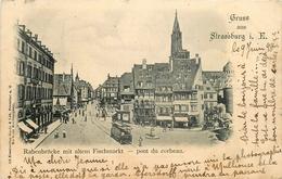Gruss Aus Strasbourg Strassburg * Pont Du Corbeau * Rabenbrücke Mit Altem Fischmarkt * Tramway - Strasbourg