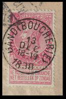 "COB N° 64 / Fragment - Obl. ""CONCOURS"" ""GAND (BOUCHERIE)"" - 1893-1900 Thin Beard"