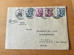 GÄ29533 Spanien 1947 Brief Von Murcia Nach Uzwil - 1931-Aujourd'hui: II. République - ....Juan Carlos I