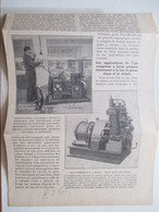 """NEUILLY SUR SEINE - Garage Automobile Du Parc Et Son Compresseur D'air """"Demag"""" -  Coupure De Presse De 1928 - GPS/Radios"""
