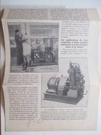 """NEUILLY SUR SEINE - Garage Automobile Du Parc Et Son Compresseur D'air """"Demag"""" -  Coupure De Presse De 1928 - GPS/Avionics"""