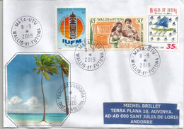 Belle Lettre De Mata Utu (Wallis & Futuna) ., Adressée Andorra, Avec Timbre à Date Arrivée - Covers & Documents