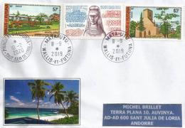 Belle Lettre De Mata Utu (Wallis & Futuna) ., Adressée Andorra, Avec Timbre à Date Arrivée - Oceanía (1892-1958)