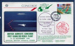 Premier Vol - Tour Du Monde - Concorde - British Airways - 1986 - Concorde