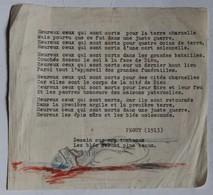 Document Avec Dessin De Soldat Mort Poilu Guerre 14-18 Illustrant Un Poème De Charles Peguy 1913 - Documents