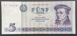 OA - Germany DDR 5 Mark Banknote 1975 #P I 794487 - [ 6] 1949-1990 : GDR - German Dem. Rep.
