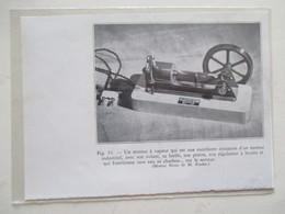 Jouet Bijou -  Modèle Réduit De Machine à Vapeur Sur Secteur  -  Coupure De Presse De 1933 - Jouets Anciens