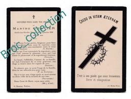 Les Hérolles (Coulonges, 86), Mémento De Marthe Gravier, 16/09/1908, 20 Ans, Souvenir Mortuaire, Décès, Deuil - Images Religieuses