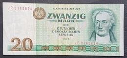 OA - Germany DDR 20 Mark Banknote 1975 #JP 0142824 - [ 6] 1949-1990 : GDR - German Dem. Rep.