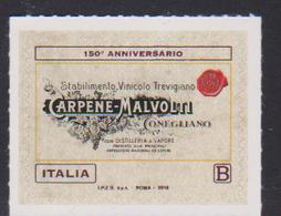 ITALY, 2018, MNH, FOOTBALL, ITALIAN PRODUCTS, DRINKS, WINE, CARPENE MALVOLTI,  1v - Wines & Alcohols