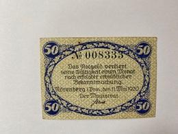 Allemagne Notgeld Norenberg 50 Pfennig - [ 3] 1918-1933 : République De Weimar