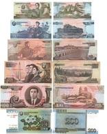 Korea North - Set 6 Banknotes 1 5 10 50 100 200 Won 2007 UNC Comm. 95 Years Lemberg-Zp - Corea Del Norte