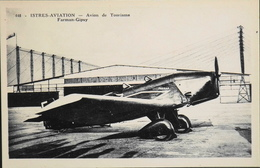CPA. Carte-Photo > Entre Guerres > ISTRES-AVIATION - Avion De Tourisme FARMAN-GIPSY - TBE - 1919-1938: Entre Guerres