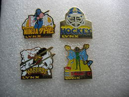 Lot De 4 Pin's Neufs Sous Emballage, Jeux Vidéo ATARI Lynx - Casinos