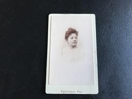CDV PHOTO Jeune Femme - FAFOURNOUX - VILLEFRANCHE SUR SAONE - Personnes Anonymes