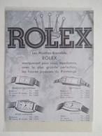 Montres De Luxe   - Coupure De Presse De 1935 - Montres Haut De Gamme