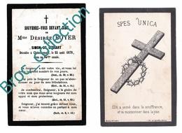 Châtellerault, Mémento De Mme Désirée Boyer, Née Simon De Lessart, 25/08/1878, 93 Ans, Souvenir Mortuaire, Décès, Deuil - Images Religieuses