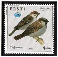 Estonia 2002 . Birds (Sparrow). 1v: 4.40.  Michel # 430 - Estonia