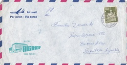 """""""HOTEL RIGIHOF"""" SWITZERLAND COMMERCIAL COVER, CIRCULATED 1958 ZURICH TO BUENOS AIRES, ARGENTINA. AIRMAIL  -LILHU - Suisse"""