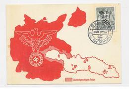 DR Deutsches Reich Propaganda Postkarte 1938 Wir Sind Frei, Tag Der Befreiung, 22.9.38, Rumburg Deutschsprachiges Gebiet - Germany