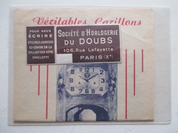 Horloge Carillon Du Doubs   - Coupure De Presse - Horloges