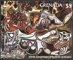 Grenada Grenade 1981 Yvertn° Bloc 92 *** MNH Cote 50 FF Pablo Picasso - Grenade (1974-...)