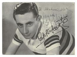 CARTE CYCLISME FAUSTO COPPI AVEC SIGNATURE CHAMP. MONDE 1953 - Wielrennen