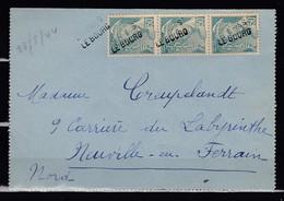 Brief Met Griffe Granges Le Bourg Naar Neuville En Ferrain - France