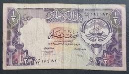 OA - Kuwait 1/2 Dinar Banknote 1980s #184182 GB/26 Pick #12d - Kuwait