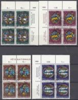 SCHWEIZ  874-877, 4erBlock Z.T. Eckrand, Gestempelt, Pro Patria 1968, Kunst Und Kunsthandwerk - Used Stamps