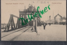 Sassnitz, Trajekt-Anlage Mit Fähren Und Dampflok,  Um 1915 - Sassnitz