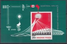 UNGARN  Block 119 A, Postfrisch **, Olympische Sommerspiele, Montreal, 1976 - Blocchi & Foglietti