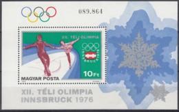 UNGARN  Block 116 A, Postfrisch **, Olympische Winterspiele 1976, Innsbruck, 1975 - Blocchi & Foglietti
