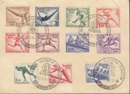 DR 600-602, 609-616, Auf P 259 Mit Sonderstempel: Berlin Olympia-Stadion 10.8.1936 - Briefe U. Dokumente