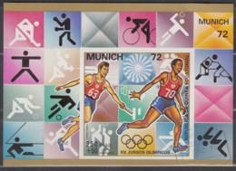 Äquatorial-Guinea  Block 18,  Gestempelt, Olympische Sommerspiele, München (IV): Sportdisziplinen, 1972, Staffellauf - Äquatorial-Guinea
