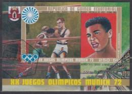Äquatorial-Guinea  Block 13,  Gestempelt, Olympische Sommerspiele, München 1972, Medaillengewinner Früherer Spiele - Äquatorial-Guinea