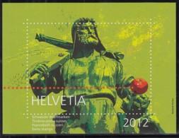 SCHWEIZ  Vignette 2012: Wilhelm Tell, Aus: Jahrbuch 2012 Der Schweizer Post - Erinnophilie