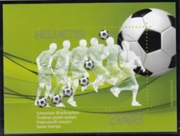 SCHWEIZ  Vignette 2008: Fußballeurpameisterschaft, Aus: Jahrbuch 2008 Der Schweizer Post - Erinnophilie