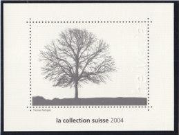 SCHWEIZ  Vignette 2004: Holzbriefmarke, Aus: Jahrbuch 2004 Der Schweizer Post, Baum - Erinnophilie